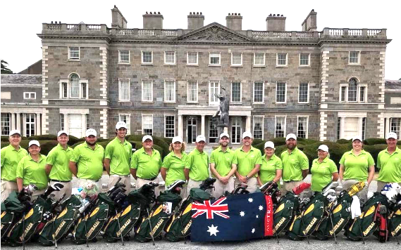 Australian Team at WDGC 2018 at Carton House